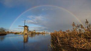 Regenboog boven Kinderdijk  van