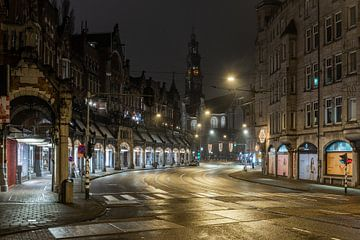 Avondklok in Amsterdam - Raadhuisstraat met Westerkerk