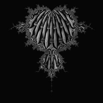 Mandelbrot schwarz-weiss von Sabine Wagner