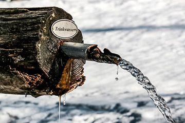 Waterbak in de sneeuw van Thomas Heitz