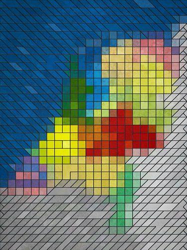 Glas-in-loodkaart Nederland