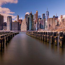 Manhattan Skyline van Robbert Ladan