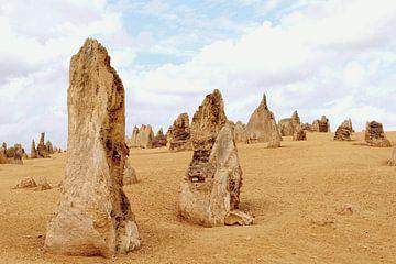 Rotsformaties in Pinnacles desert van Inge Hogenbijl