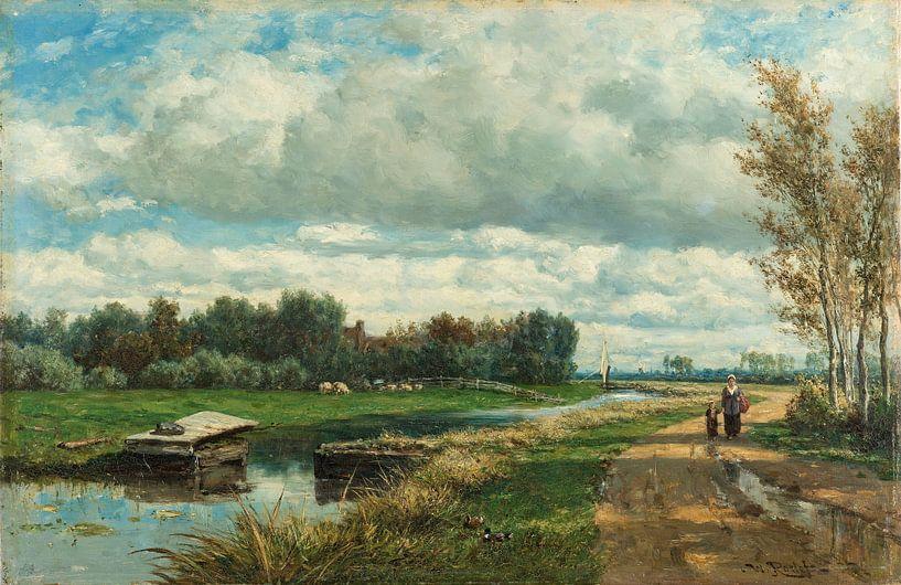 Landschap in de omgeving van Den Haag, Willem Roelofs van Schilders Gilde