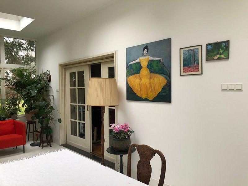 Kundenfoto: Dame im gelben Kleid, Max Kurzweil