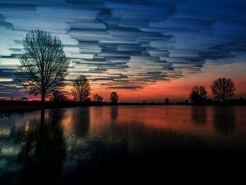 Painted sky (3:4) van Lex Schulte
