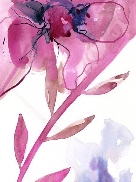 Pink Floral van Brigitte Bazuin