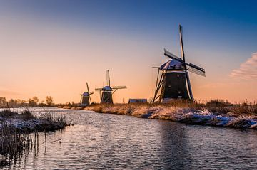 Paysage d'hiver néerlandais sur Gijs Rijsdijk