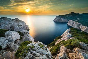 Zonsondergang in de baai bij Alghero - Sardinië van
