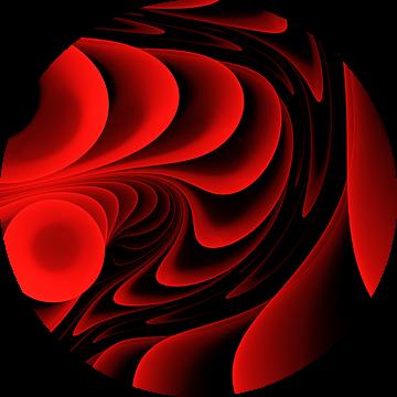 Melody in rood van Max Steinwald