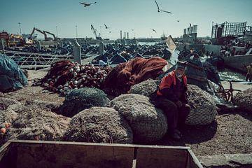 Haven in Essaouira, Marokko van Rob Berns