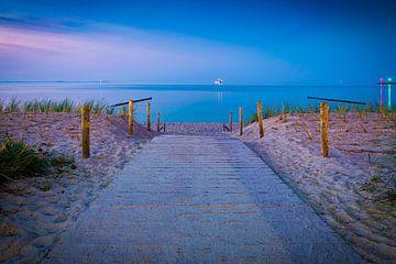 Avond aan het strand van Martin Wasilewski