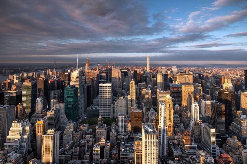 Ausblick vom Empire State Building van Kurt Krause