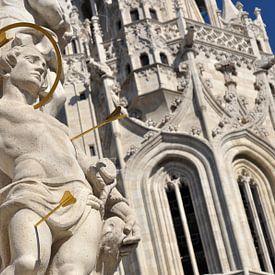 Drievuldigheidsplein en Matthiaskerk Boedapest von Rogier Vermeulen