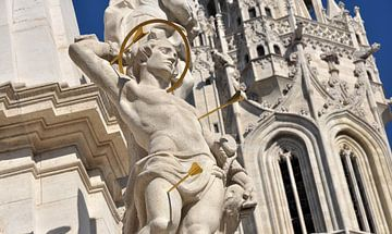 Drievuldigheidsplein en Matthiaskerk Boedapest van Rogier Vermeulen