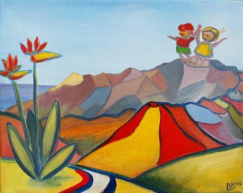 Landschap La Palma 4 van Lorette Kos