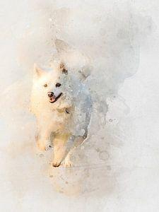 Rennen, kleine Spitz! van Christian Müringer