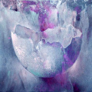 La coquille d'œuf - structures en rose et turquoise
