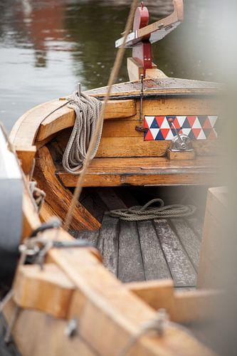 Details van traditionele houten botter