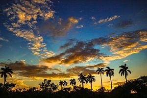 zonsondergang cuba van