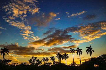 Sonnenuntergang Kuba von Aad de Vogel