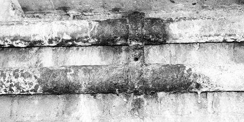 Minimalisme Kunst Fotografie Roestige Buis Zwart-Wit