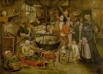 Bezoek aan de hoeve, Pieter Brueghel de Jonge van