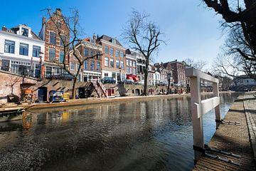 Le canal Oudegracht à Utrecht sur Joris Louwes