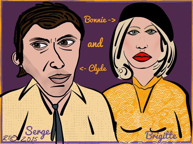 Serge Gainsbourg & Brigitte Bardot, Bonnie And Clyde van Robbert Tilli