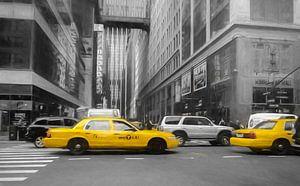 Gele taxi's van