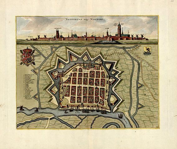 Nieuwpoort aan de Vlaamse kust rond 1700