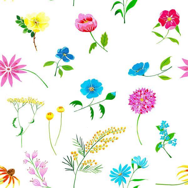 Buntes nahtloses florales Muster von Ivonne Wierink