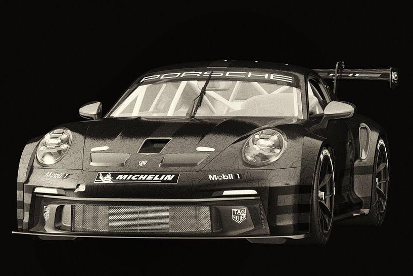 Porsche 911 GT-3 RS - Cup 2021 van Jan Keteleer