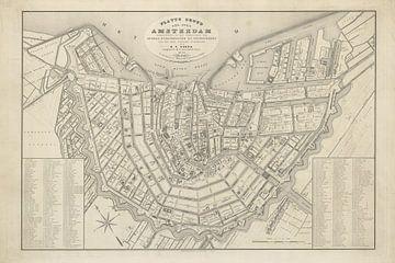Karte Amsterdam - 1842