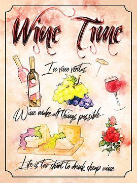 Tijd voor wijn van Printed Artings