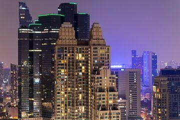 Skyline von Bangkok von Bart van Lier