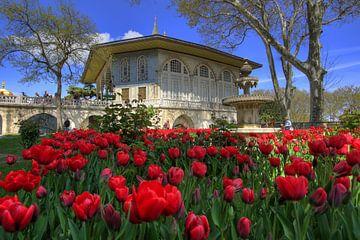 In de vierde binnenplaats van het Topkapi paleis van