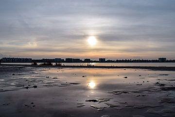 Zonsondergang op het strand von Kim de Been