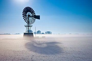 Paysage d'hiver Les Pays-Bas sur Peter Bolman