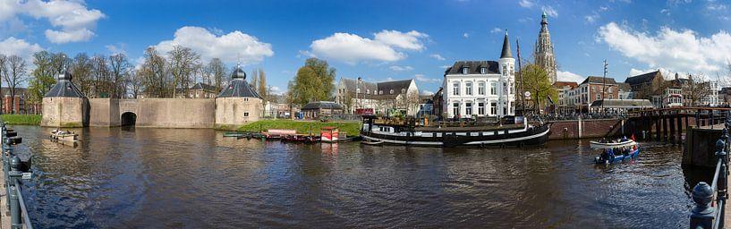 Panorama Historisch Breda Spanjaardsgat van Jean-Paul Wagemakers
