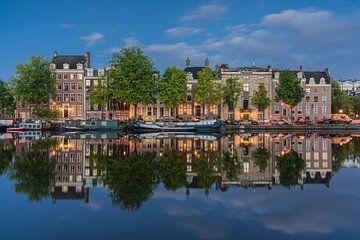 Amstel spiegel blauwe uur