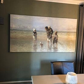 Klantfoto: Kinderen der Zee, Jozef Israëls van Rebel Ontwerp, op canvas