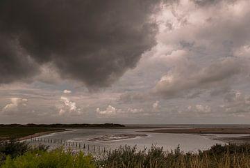Donkere wolken boven Het Zwin van Edwin van Amstel