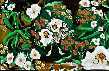 Lilies In The Garden von Annaluiza Dovinos