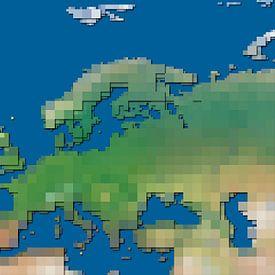 Carte aux blocks de l'Europe sur Frans Blok