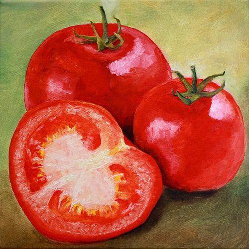 Stillleben mit Tomaten van