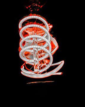 Futuristische spiraal lamp van Rosanne Bussing