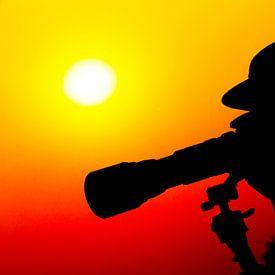 Fotograferen tijdens de Afrikaanse zonsondergang sur Dexter Reijsmeijer