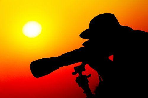 Fotograferen tijdens de Afrikaanse zonsondergang