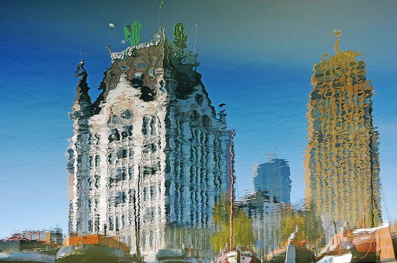 Spiegelbeeld Witte Huis en Wijnhaeve van Frans Blok